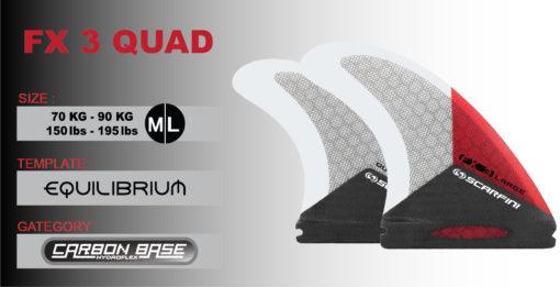 Scarfini Carbon Base FX3 Quad (M/L) 3