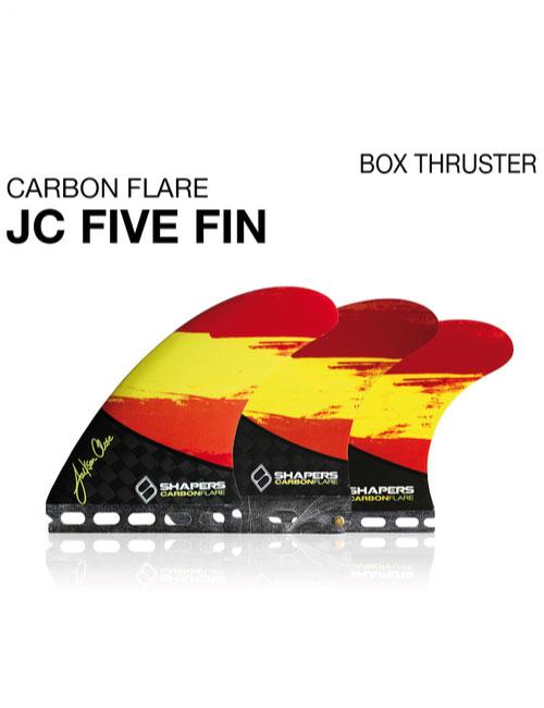 Shapers-Finnen-jc-five-fin-carbon-flare-box-thruster-Future
